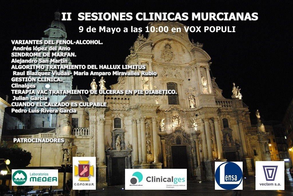 II SESIONES CLÍNICAS DE PODOLOGÍA. GRATUITO