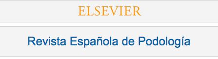 Elsevier – Revista Española de Podología