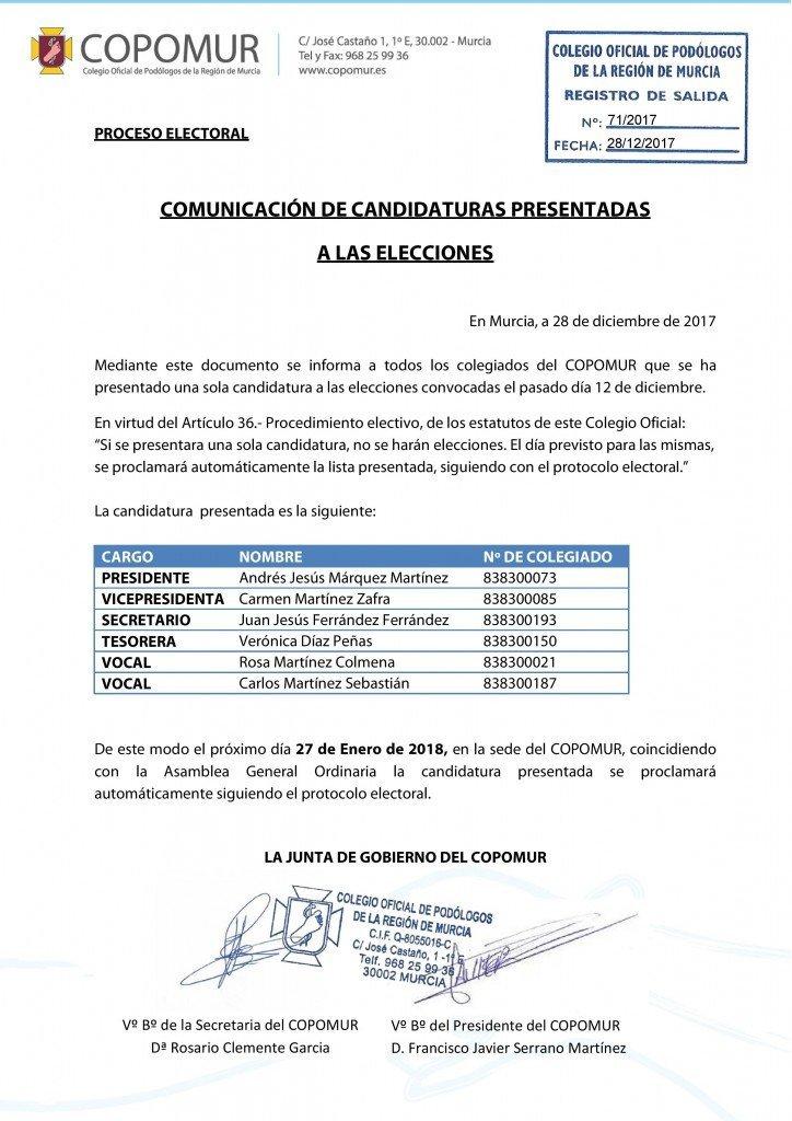 COMUNICACIÓN DE CANDIDATURAS PRESENTADAS A LAS ELECCIONES 2017-page-001
