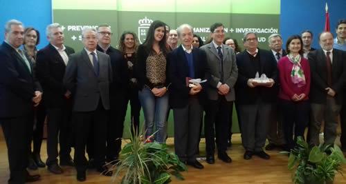Entrega de Premios Salutis Gratia al voluntariado sanitario y Sanitati Liberter a la empresa responsable de Murcia