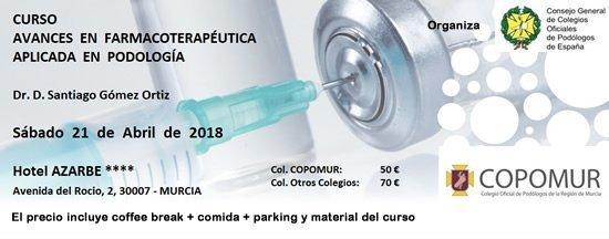 Curso de Farmacoterapéutica aplicada en Podología