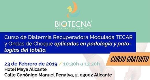 Curso de Diatermia Recuperadora Modulada TECAR y Ondas de Choque aplicados en podología y patologías del tobillo.