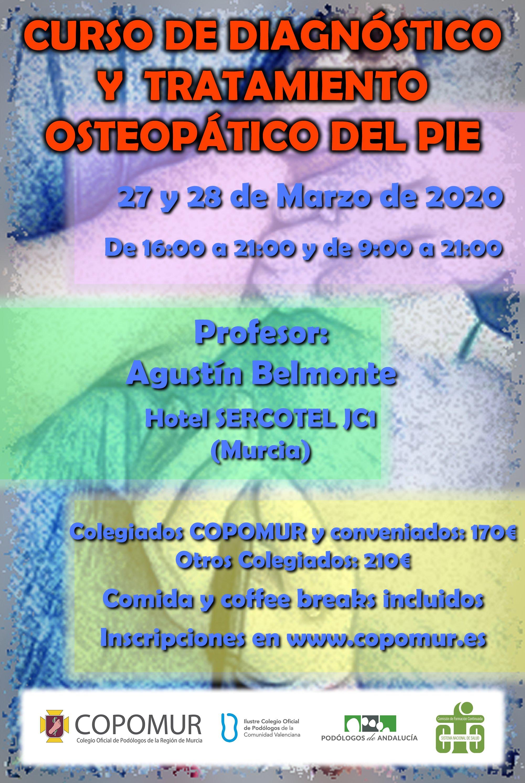 CURSO DE DIAGNÓSTICO Y TRATAMIENTO OSTEOPÁTICO DEL PIE
