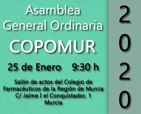 Anota en tu Agenda – Asamblea General Ordinaria.
