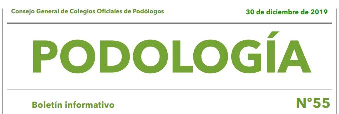 Boletín Informativo Nº55 – Consejo General de Colegios Oficiales de Podólogos