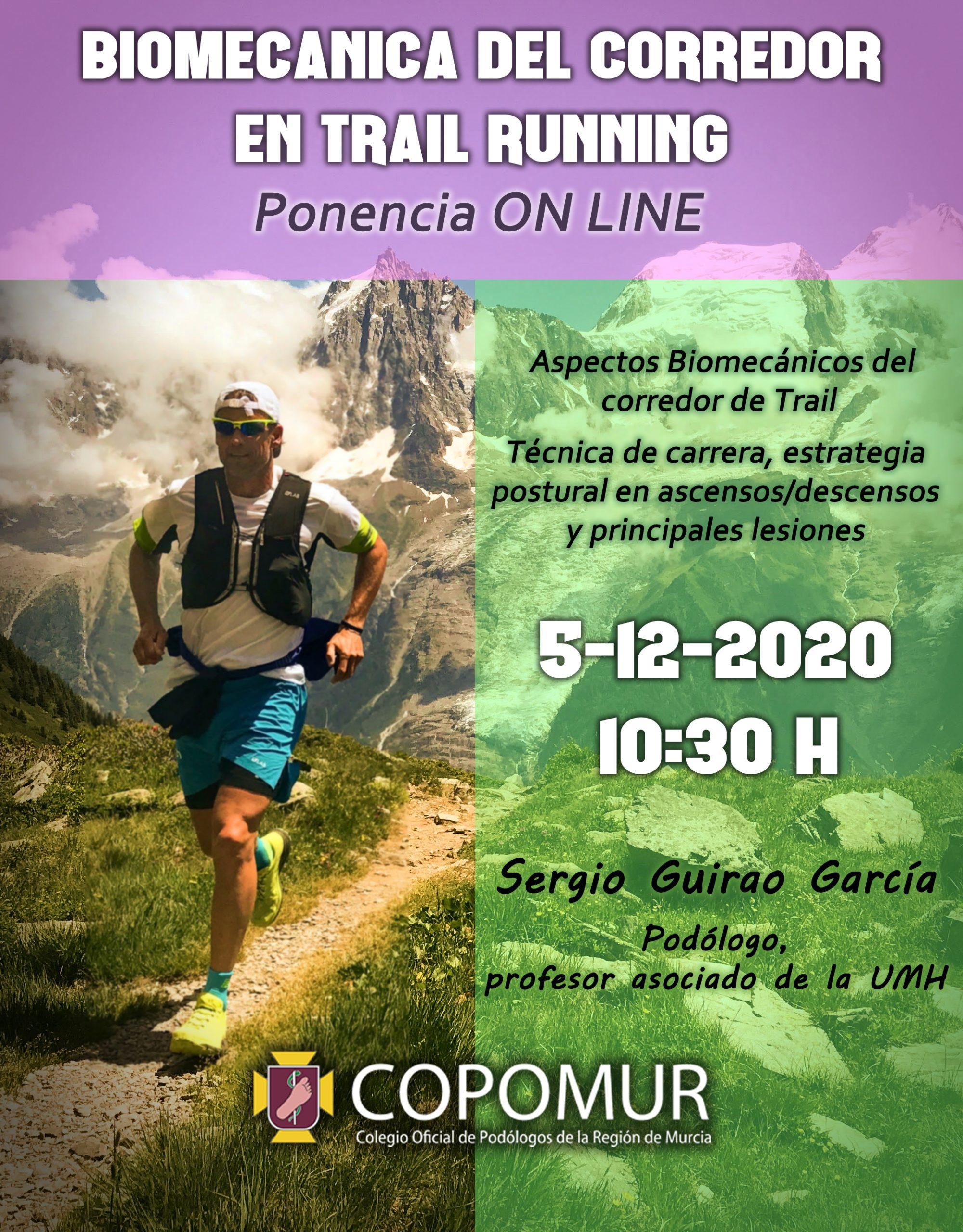 PONENCIA ONLINE. BIOMECÁNICA DEL CORREDOR EN TRAIL RUNNING.